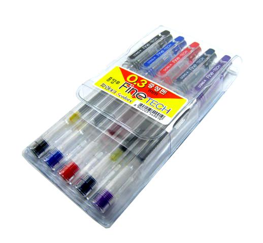 동아 파인테크 5색세트 0.3mm 중성펜 - 펜스테이션, 3,500원, 볼펜, 심플 볼펜
