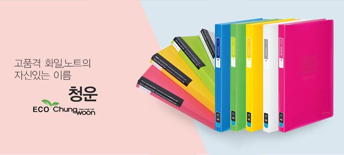 청운화일 칼라칩 5섹션홀더 - 펜스테이션, 2,500원, 파일/클립보드, 엘홀더/인덱스 화일